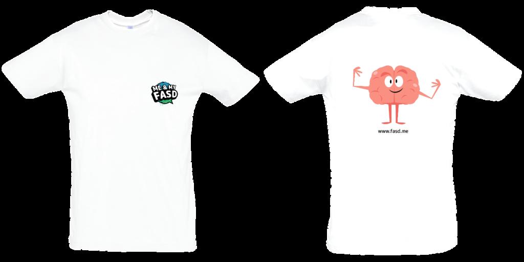 Brain Character: Adult Unisex Tshirt