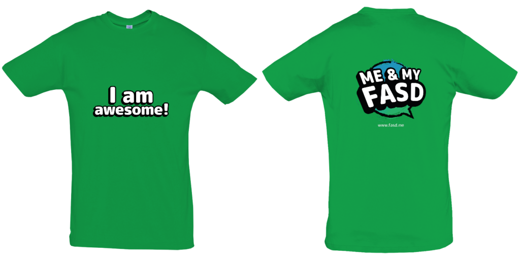 I am awesome! Adult T shirt GREEN