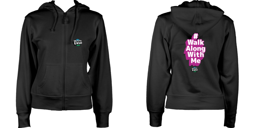 Women's Hoodie (Black)  Walk Along with Me