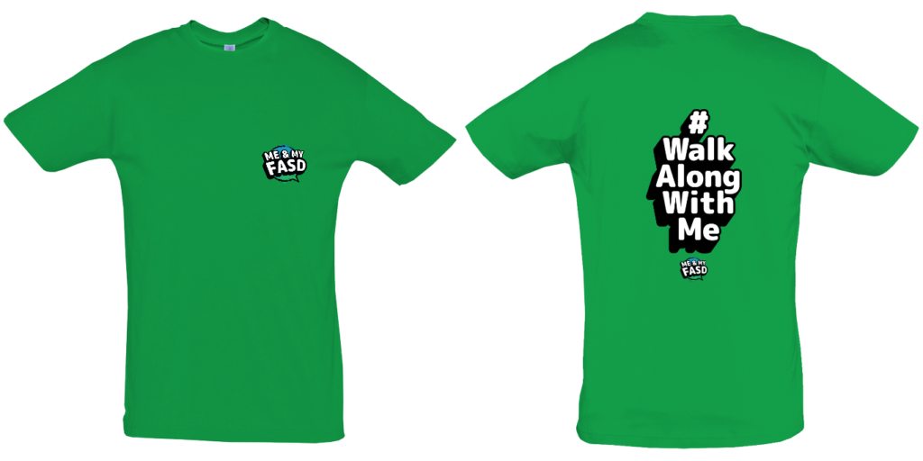 Walk Along With Me (Hashtag) Adult Tshirt GREEN