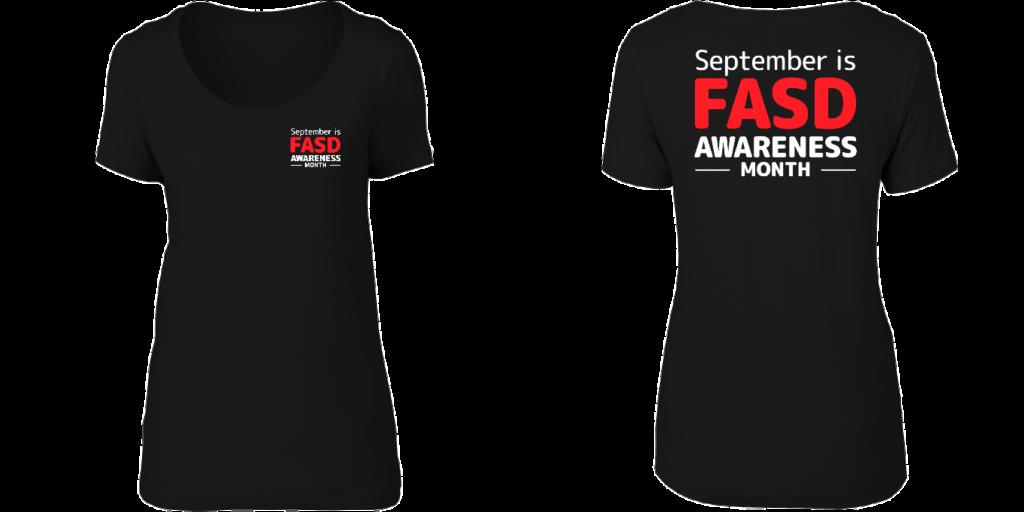 FASD Awareness Month – Women's scoop neck (DARK COLOURS)