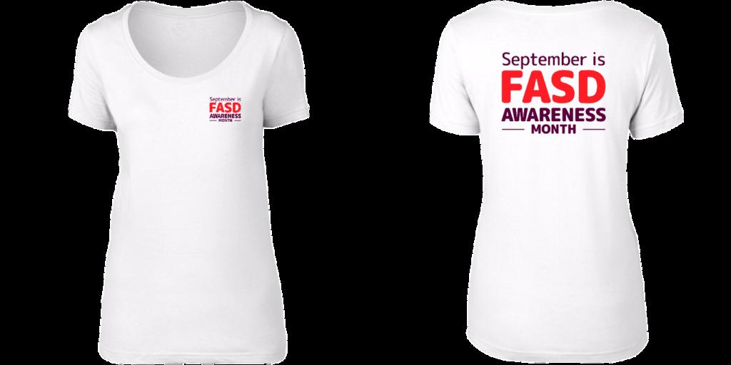 FASD Awareness Month – Women's scoop neck (LIGHT COLOURS)